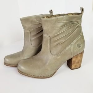 Stacked Heel Timberland Boots